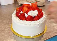 デコレーションケーキが完成
