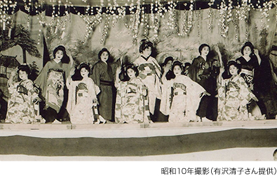 花街のお座敷唄「謡越中三日市音頭」昭和10年撮影