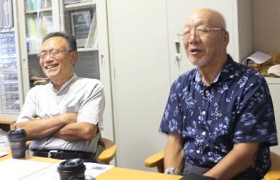 たてもんについてお話しくださった(左)美谷喜代志さんと(右)海苔洋二さん