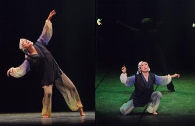 舞台で母への想いをダンスで表現する西村保子さん