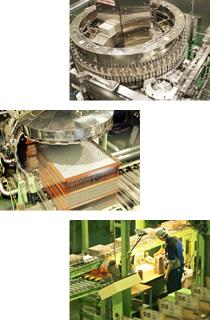 アサヒ飲料北陸工場の生産ライン