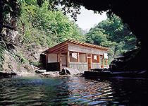 小川温泉の野天風呂