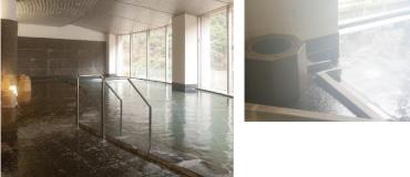 延対寺荘 大浴場の様子