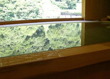 総ヒノキ造りの露天風呂
